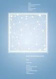 Abstrakt polygonal utrymme på enkel blå bakgrund Royaltyfri Fotografi