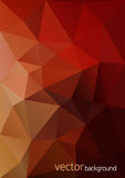 Abstrakt polygonal vektorbakgrund Arkivfoto