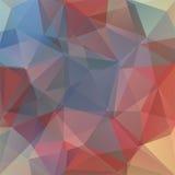 Abstrakt polygonal vektorbakgrund Färgrik geometrisk vektor Royaltyfri Fotografi