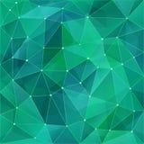 Abstrakt polygonbakgrund i modern stil Gröna turkosfärgövergångar skapar ett ingrepp Geometriska triangulära bakgrunder vektor illustrationer