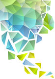 Abstrakt polygonbakgrund, vektor Royaltyfri Foto