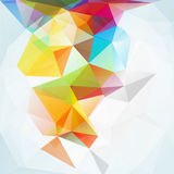 Abstrakt polygontriangelbakgrund Royaltyfria Bilder