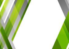 Abstrakt popielatej i zielonej techniki geometryczny tło Zdjęcie Royalty Free