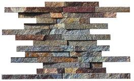 Abstrakt prövkopia av den naturliga stenen på en vit bakgrund Fotografering för Bildbyråer