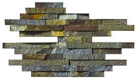 Abstrakt prövkopia av den naturliga stenen på en vit bakgrund Arkivfoto