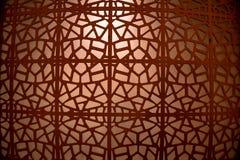 Abstrakt prydnad av det bruna järnrastret Arkivfoto