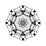Abstrakt prydnad i cirkel Utsmyckad mandala med växt- motiv Beståndsdel för design Arkivfoto