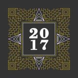 Abstrakt prydnadbakgrund för nytt år 2017 Arkivbilder