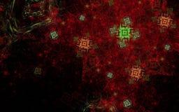 Abstrakt prydnadlilafärg Royaltyfria Bilder