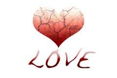 Abstrakt przegrywanie miłość Zdjęcie Royalty Free