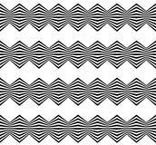 Abstrakt przekręcał geometrycznego wzór - Płynnie powtarzalny zirytowany ilustracji