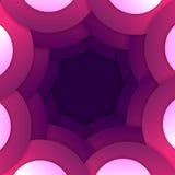 Abstrakt purpurfärgad bakgrund för runda former Royaltyfri Bild