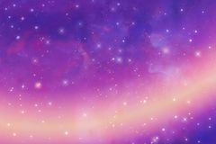 Abstrakt purpurfärgad bakgrund, stjärnklar himmeltextur, illustration, lutning vektor illustrationer