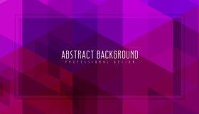 Abstrakt purpurfärgad geometrisk bakgrund Fantastisk vektorillustration Det ska användas för broschyren, reklamblad, affischen et royaltyfri fotografi