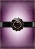 Abstrakt purpurfärgat tappningkort Arkivfoton