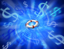 abstrakt räddningsaktion för skuldstandardpengar Royaltyfria Foton