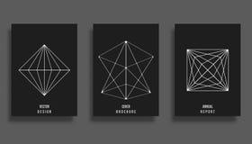 abstrakt räkningsdesign Minsta bakgrund med geometriska former stock illustrationer