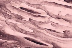 Abstrakt różowa akwarela na papierowej teksturze jako tło zdjęcia royalty free