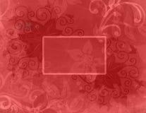 Abstrakt röd bakgrund med lager av abstrakt begreppblomma- och krullningskrusidullar och den tomma textasken Royaltyfria Bilder