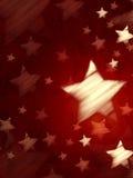 Abstrakt röd bakgrund med randiga stjärnor, lodlinje Royaltyfri Bild