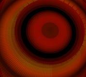 Abstrakt röd bakgrundscirkulärvirvel Arkivfoto