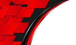 Abstrakt röd bakgrundsteknologi vektor illustrationer