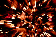 Abstrakt röd brand Arkivbild
