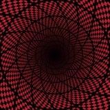 Abstrakt röd checkerdbakgrund Arkivfoto