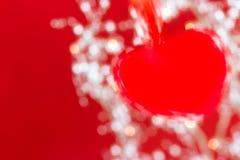 Abstrakt röd hjärta Arkivbilder