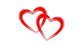 Abstrakt röd hjärtaillustrationdesign Royaltyfri Fotografi