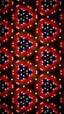 Abstrakt röd hjärtatapet Royaltyfria Bilder