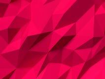 Abstrakt röd Lowpoly bakgrund Geometrisk polygonal illustration för bakgrund 3D Royaltyfri Bild
