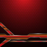 Abstrakt röd metallisk bakgrund för begrepp för teknologi för modell för ramsexhörningstextur Arkivfoto