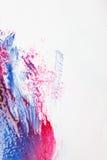 Abstrakt röd och blå färgmålning för modern konst, Royaltyfri Bild