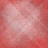 Abstrakt röd och vit bakgrund med diamant- och triangeldesign Arkivfoton