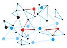 Abstrakt röd punktvirus Vektorillustration för EPS 10 Arkivfoton