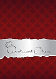 Abstrakt röd restaurangmenyräkning Royaltyfri Foto