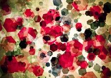 Abstrakt röd rosa bokehtapet för grön färg royaltyfri bild