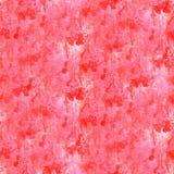 Abstrakt röd rosa vattenfärg för teckningsslaglängdfärgpulver Arkivfoton