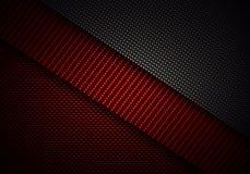 Abstrakt röd svart texturerad materiell design för kol fiber Royaltyfri Foto