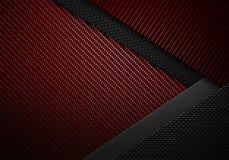 Abstrakt röd svart texturerad materiell design för kol fiber Royaltyfria Foton