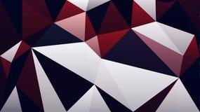Abstrakt röd tapet för triangel för polygon för vitsvartfärg Arkivbild