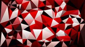 Abstrakt röd tapet för triangel för polygon för vitsvartfärg royaltyfri illustrationer