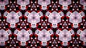 Abstrakt röd tapet för triangel för polygon för vitsvartfärg Royaltyfri Bild