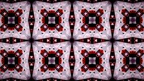 Abstrakt röd tapet för triangel för polygon för vitsvartfärg Royaltyfri Fotografi