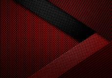 Abstrakt röd texturerad materiell design för kol fiber Royaltyfri Bild