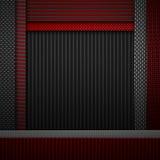 Abstrakt röd texturerad materiell design för kol fiber Royaltyfri Fotografi