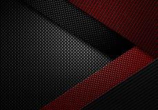 Abstrakt röd texturerad materiell design för kol fiber Arkivbilder