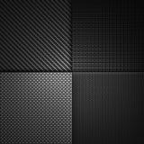 Abstrakt röd texturerad materiell design för kol fiber Royaltyfria Bilder