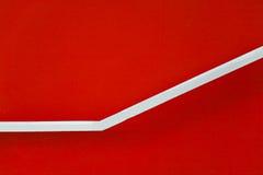 abstrakt röd trappa Arkivfoton
